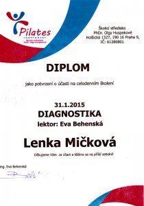Certifikát Diagnostika