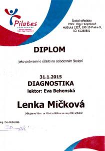 Certifikát Diagnostika