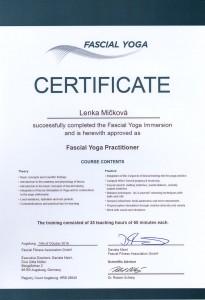 Certifikát Fascial Yoga
